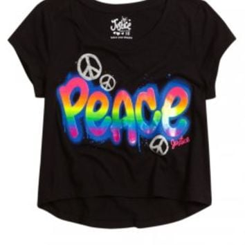Peace Cropped Graphic Tee | Crop Tees | Graphic Tees | Shop Justice