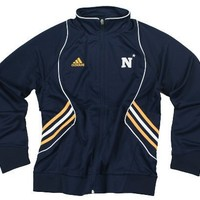 Adidas Womens NCAA US Naval Academy Big Game Warm Up Jacket, Navy (Large)
