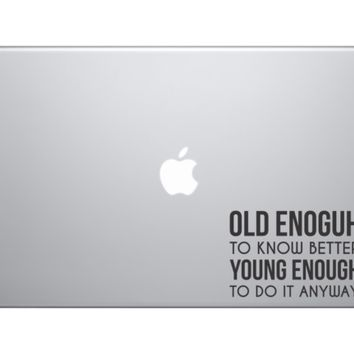 "Inspirational Macbook Sticker Decal Skin Cover for Apple Macbook Air Pro 13"" 15"""
