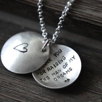 Weddings,Wedding Party,THANK YOU Mom,Mother of the Bride Gifts,Mother of the Groom Gifts,Personalized Jewelry,Locket Necklace,Secret Message