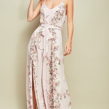 Floral Open Back Jumpsuit