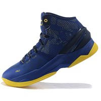 Brett Lancaster Men's Lightweight Sports Running Shoe Under Armour Curry 2 Navy and Yellow (1) Training Shoe