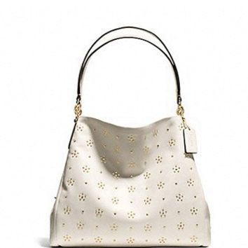 Coach All Over Stud Phoebe Shoulder Bag in Calf Leather