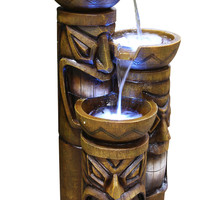 Tiki Fountain W/ Led Lights