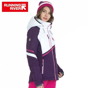 Hooded Women Ski Jacket High Quality Professional Sports Clothing Woman Outdoor Sports Jackets