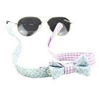 "Sunglass Straps in The Cindy & 1/8"" Lilac Gingham by Fraternity Collection - FINAL SALE"