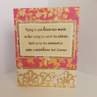 I Love You - Love Quote Handmade Greeting Card - Anniversary - For Husband - For Wife - Engagement - Wedding - Miss You