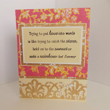 Shop love greeting cards for husband on wanelo i love you love quote handmade greeting card anniversary f m4hsunfo