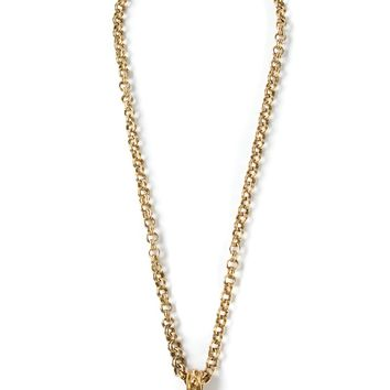 Yves Saint Laurent Vintage Cross Pendant Necklace