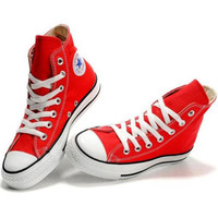 Converse Fashion Reflective Sneakers Hight top Sport Shoes Red