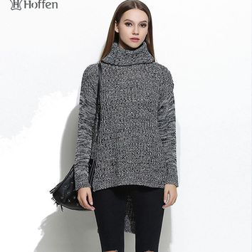 Hoffen 2017 fashion women sweaters and pullovers 2016 winter autumn turtleneck knitwear sweaters for woman christmas pullover