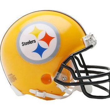 PITTSBURGH STEELERS YELLOW RIDDELL NFL FOOTBALL MINI HELMET NEW 3000347