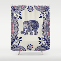 Elephant Pink Shower Curtain by rskinner1122
