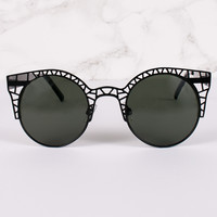 Cat Eye Lens Half Caged Sunnies