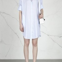 Acne Studios Lash striped cotton shirt dress