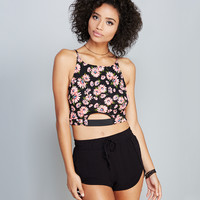 Floral Pop Cutout Crop Top | Wet Seal