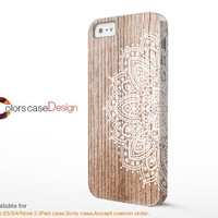 floral on Wood,IPhone 5s case,Christmas present,IPhone 5 case,IPhone 5c case,IPhone 4 case,IPhone 4s case, Full Wrap-Around Print