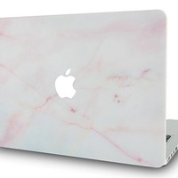 "LuvCase MacBook Pro 15 Case 2017 & 2016 Touch Bar Plastic Hard Shell Cover for MacBook Pro 15.4"" A1707 (Pink Marble)"
