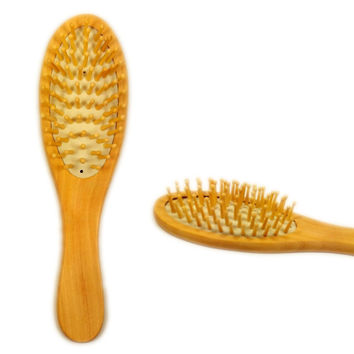 Wooden Bamboo Hair Vent Brush Brushes Hair Care and Beauty SPA Massager Massage Comb