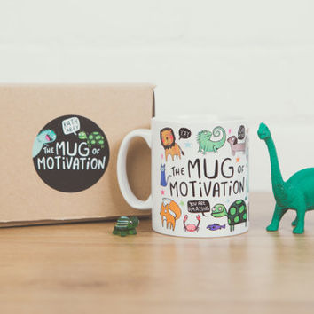 The Mug of Motivation - Illustrative - Gift for her - Gift for him - Exam - New Job - Confidence Boost