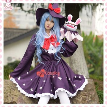 Free postage Hot Anime DATE A LIVE cos cartoon cute female Witch Christmas elf clothing Halloween cosplay Hermit Yoshino costume