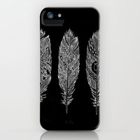 Patterned Plumes - White iPhone Case by Kyle Naylor | Society6