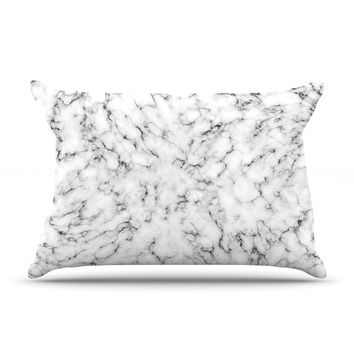 "Will Wild ""Marble"" White Gray Pillow Sham"