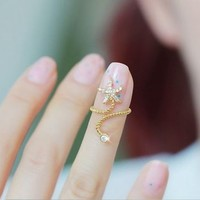 Starfish Twist Nail Cuff Ring(Adjustable Band)