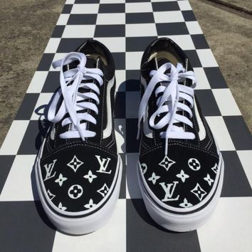 Fashion Online Louis Vuitton X Old Skool Vans Sport Shoes