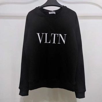 XIERUIS 2018 new Brand Design VLTN letter print women men hoodies hip-hop pullover  hoodie men oversized sweatshirt VLTN
