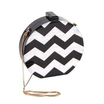 Design Acrylic Round Shape Clutch Bag