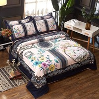 Cool 3D Chinese style 100% Cotton Bedding Sets Queen King size Duvet/Quilt cover Bed sheet/linen set PillowcaseAT_93_12