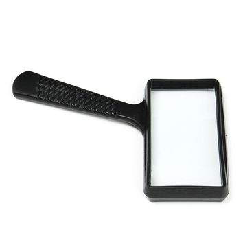 5X Portable Handheld high definition Rectangle Reading Magnifier Glass lens Loupe for old people reading magnifier