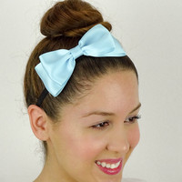 Girly Ribbon Bow in Light Blue
