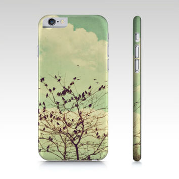 Birds Phone Cover - Mint Green Phone Case - iPhone Case - Flock of Birds Case - Art Phone Case - iPad Mini Case - Samsung Galaxy S4 S5