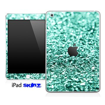 Aqua Green Glimmer Skin for the iPad Mini or Other iPad Versions