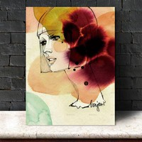 Picture decor poster canvas painting Picture Wall art abstract  figure art print Wall Picture  Cartoon wall painting art canvas