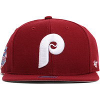 Philadelphia Phillies Sure Shot Snapback Hat Burgundy