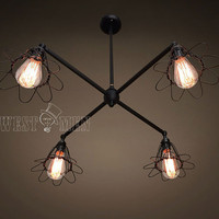 chandelier lamp pendant light ceiling base 4 cage chandelier lighting cross arm living room large ceiling fan lights 2014 new lamp COZOL
