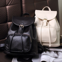 Brand Like Trending Fashion Leather Shoulder Candy Multi Color Women Casual Chic Backpack   _ 8271