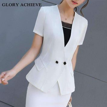 Office Uniform s Women Skirt Suit Costumes For Womens Business Suits Skirts With Blazer Black White Plus Size 3Xl 4Xl