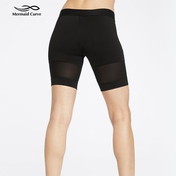 Solid High Waist Running Shorts Women Tight Hollow out Yoga Shorts  workout  Shorts Sport Sweat-wicking Slim  Fitness Gym shorts