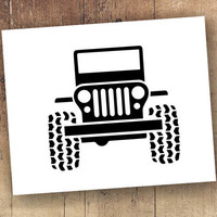Jeep Wrangler Decal - Jeep Wrangler Sticker - Mud Tires offroad truck got mud? Jeep Lover Decal - Jeep Sticker Jeep Decal