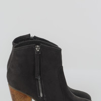 Romane Suede Bootie - Charcoal