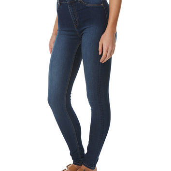 CHEAP MONDAY HIGH RISE SPRAY ON WOMENS JEAN - DIM BLUE