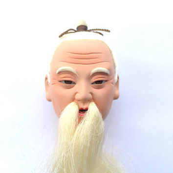 Japanese Doll Head - Hina Matsuri Doll - Old Man Doll Head -  Body Part D4-63