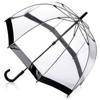 Fulton Black Birdcage Bubble Umbrella - Raindrops Umbrellas & Rainwear Canada