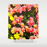 Painted Fall Flower Bouquet Shower Curtain by KCavender Designs