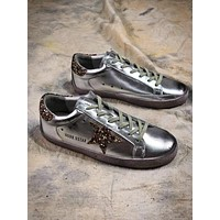 Ggdb Golden Goose Uomo Donna Silver Shoes Sneakers - Sale