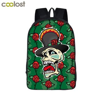Cool Backpack school Cool Skull Backpack for Teenagers Death Printing Children School Bags for Girls Boys Book Bag Fantastic Women Men Travel Bag AT_52_3